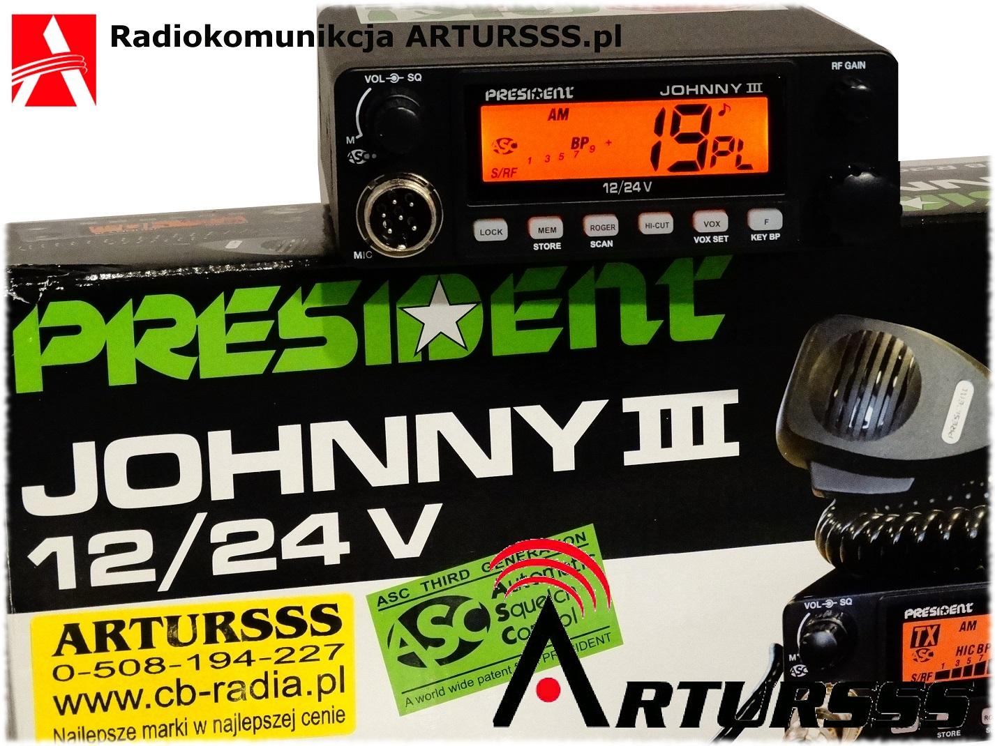 CBradio President Johnny III ASC 12/24