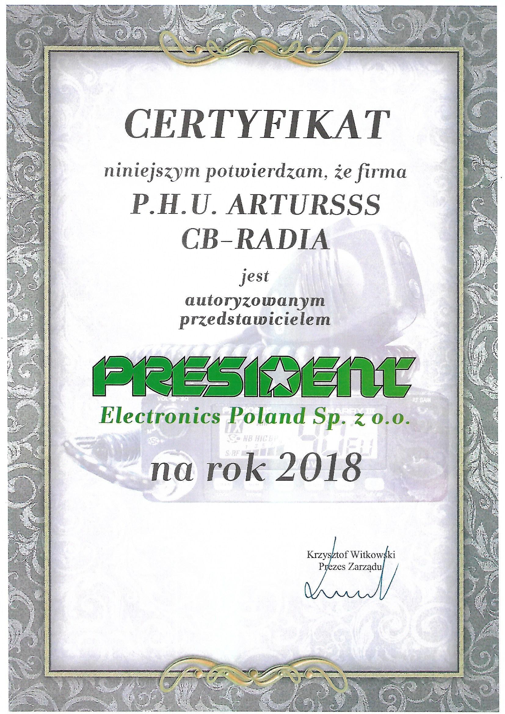 Dystrybutor Presdient Pruszków Warszawa Mazowieckie